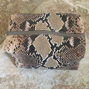 Nordstrom Faux Leather Snake Print Makeup Bag